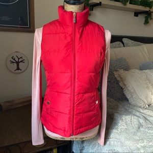Red Puffer Vest Size Petite Small